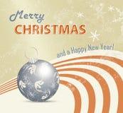 Ретро предпосылка рождественской открытки бесплатная иллюстрация