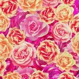 Ретро предпосылка роз Стоковая Фотография RF