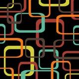 Ретро предпосылка черноты картины при округленные квадраты - Стоковая Фотография RF