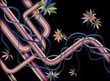 ретро предпосылки флористическое Стоковое Фото