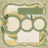 Ретро проект семьи album.365. scrapbooking шаблоны. Стоковые Изображения
