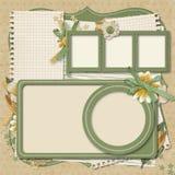 Ретро проект семьи album.365. scrapbooking шаблоны. Стоковые Изображения RF