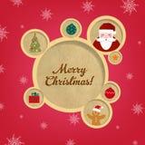 Ретро пузыри и Santa Claus конструкции сети рождества иллюстрация вектора