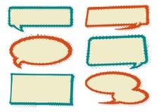 Ретро пузыри речи стиля бесплатная иллюстрация