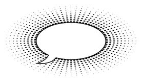 Ретро пузырь речи точки Стоковые Фото