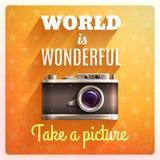 Ретро плакат камеры Стоковые Изображения