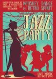 Ретро плакат партии Стоковое Фото