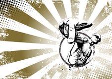 Ретро плакат рэппера Стоковое Фото