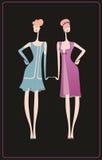 2 ретро платья для торжества Стоковое фото RF