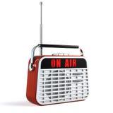 Ретро радио иллюстрация штока