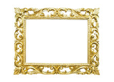 Ретро рамка старого золота Стоковое фото RF
