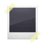 Ретро рамка фото изолированная на белой предпосылке иллюстрация вектора