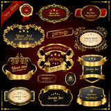 Ретро рамки золота вектора Стоковая Фотография