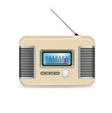 Ретро радио изолированное на белизне Иллюстрация штока