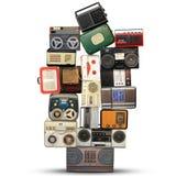 Ретро рекордер, аудиосистема стоковая фотография rf