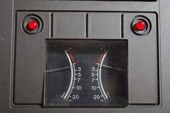 Ретро ровный индикатор стоковое изображение