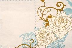 ретро розы иллюстрация штока