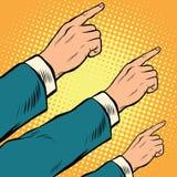 Ретро руки указывая к праву вверх бесплатная иллюстрация