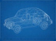 Ретро светокопия архитектора автомобиля Стоковые Фото