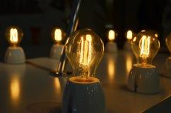Ретро свет шарика в ноче Стоковые Фото