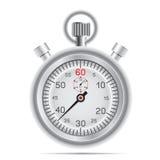 ретро секундомер иллюстрация вектора