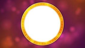Ретро сияющая светлая анимация видео знамени круга бесплатная иллюстрация