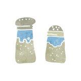 ретро соль и перец шаржа Стоковое Фото