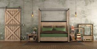 Ретро спальня хозяев Стоковое фото RF