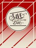 Ретро спасение рогульки или брошюры дата Стоковое Изображение RF