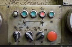 Ретро станция контроля за обеспыливанием воздуха Стоковая Фотография