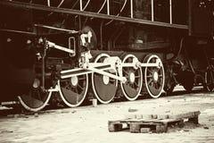 Ретро старое колесо поезда Стоковое Изображение