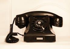 Ретро старомодный телефон роторной шкалы Стоковые Фото