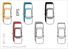 Ретро старые значки вектора автомобиля установили для архитектурноакустических чертежа и illustation бесплатная иллюстрация