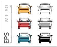 Ретро старые значки вектора автомобиля установили для архитектурноакустических чертежа и illustation иллюстрация штока