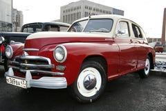 ретро старый автомобиль Волга GAZ Стоковое фото RF