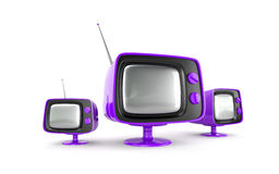 ретро стильный tv Стоковая Фотография