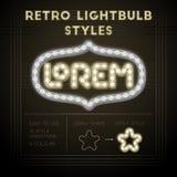 Ретро стили лампочки Стоковая Фотография RF
