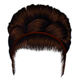Ретро стиль причёсок babette с отрезком провода волосы женщин коричневые Красотка способа иллюстрация вектора