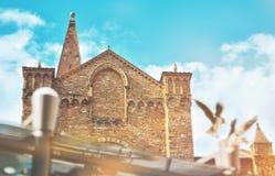 Ретро сторона повести Santa Maria duomo Флоренса на солнечном дне Стоковые Изображения RF