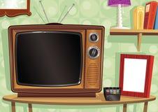 Ретро сцена живущей комнаты Стоковые Фото