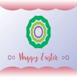 Ретро счастливая предпосылка поздравительной открытки пасхи Стоковые Фото
