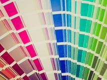 Ретро таблица цвета взгляда стоковая фотография rf