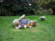 Ретро ТВ в цветах (современное искусство) Стоковые Фото