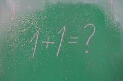 Ретро тема школы, стол с сочинительством мела Стоковая Фотография