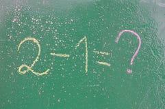 Ретро тема школы, стол с сочинительством мела Стоковое Фото