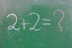 Ретро тема школы, стол с сочинительством мела Стоковая Фотография RF