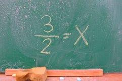 Ретро тема школы, стол с сочинительством мела Стоковые Фотографии RF