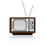 Ретро телевизор на белизне Стоковые Изображения