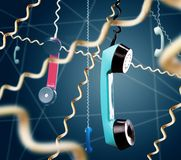 Ретро телефонные трубки Стоковые Изображения