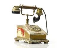 Ретро телефон - винтажный изолированный телефон Стоковое Фото